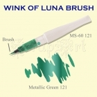 Wink of Luna Brush Green Metallic - Kuretake