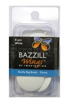 Really Big Brads 25mm White - Bazzill Basic Paper