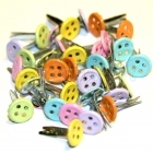 Svorky pro scrap - Tiny Pastel Button - Eyelet Outlet