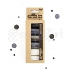 Art Ingredients Glitter Set Ebony and Ivory - Finnabair by Prima Marketing Inc.