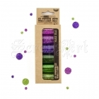 Art Ingredients Glitter Set Mardi Gras - Finnabair by Prima Marketing Inc.