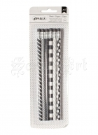 tužky - Black and White Designer Desktop Essentials Pencils 6 Pkg American Craft
