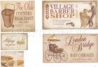 Vintage Sticker - set 4