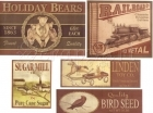 Vintage Sticker - set 9