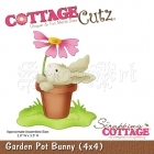 Garden Pot Bunny (4x4) CC4x4-344 - CottageCutz