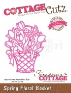 Spring Floral Basket (Elites) CCE-117 - CottageCutz