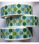Washi páska - Blue and Green Dots Washi Tape
