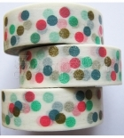 Washi páska - Colorful Dots Washi Tape
