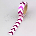 Washi páska - Fuchsia Chevron Foil Washi Tape
