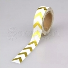 Washi páska - Gold Chevron Foil Washi Tape