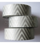 Washi páska - Silver Chevron Washi Tape