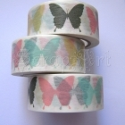 Washi Tape - Butterfly Silhouette Colored