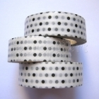 Washi Tape - Dots Black