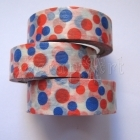 Washi Tape - Dots Red / Blue