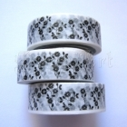 Washi Tape - Flowers Black