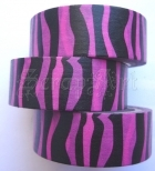 Washi Tape - Zebra Black and Lila