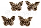 Wire Butterfly  4ks - Brass