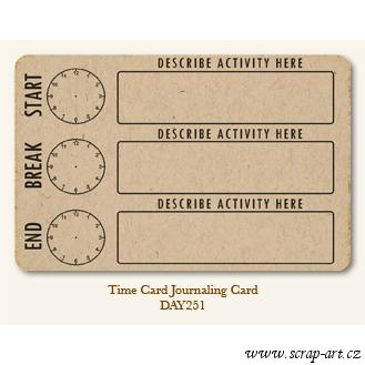 Time Card  - Journaling Card