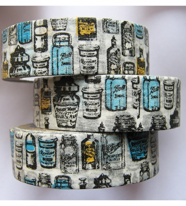 Washi páska - Bottles Washi Tape