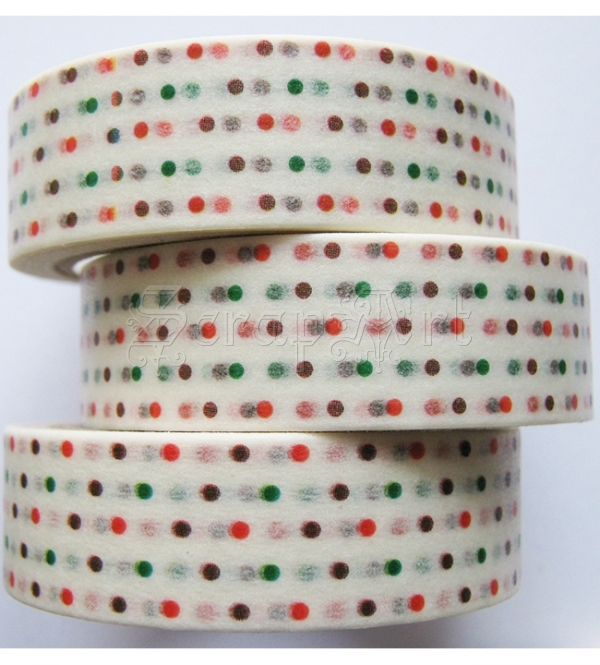 Washi páska - Colorful Polka Dot Washi Tape