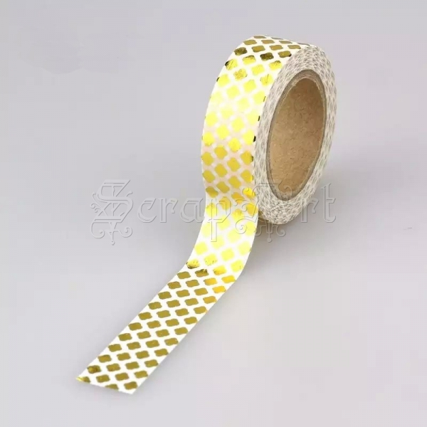 Washi páska - Gold Diamonds Foil Washi Tape