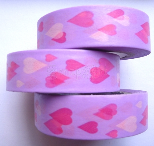 Washi Tape - Hearts Lila