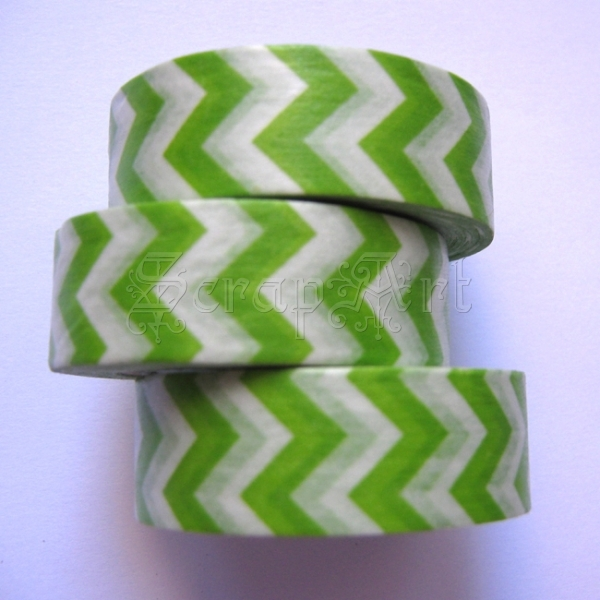 Washi Tape - Zig Zag - Green