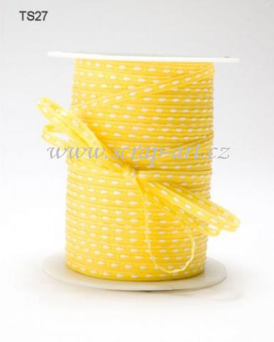 stuha - TS 27 - Yellow - Stitched - May Arts