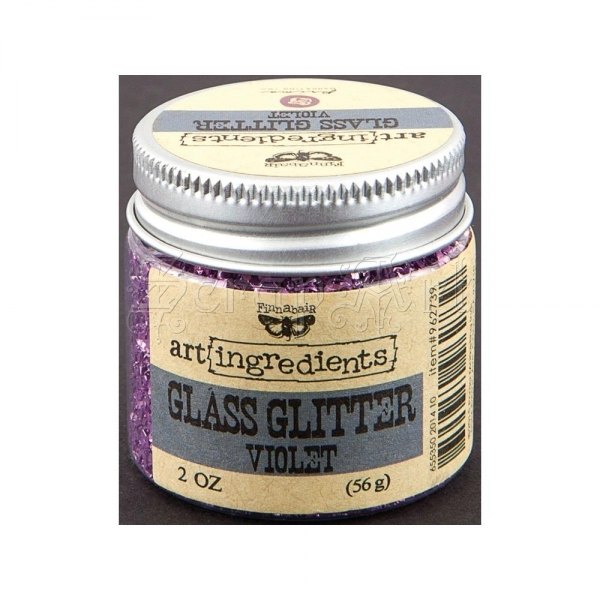 zdobící fragmenty - Art Ingredients Glass Glitter 2oz Violet - Finnabair - Prima Marketing Inc.